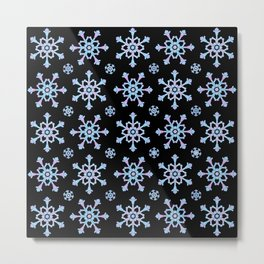 Let it Snow Mix 5 Midnight Version Metal Print