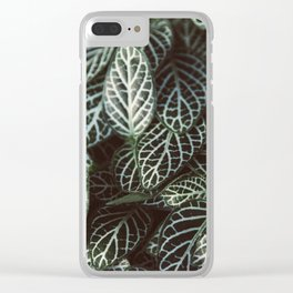 Botanical Gardens Zebra Leaf #398 Clear iPhone Case