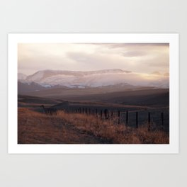 Rocky Mountain Sunset Art Print
