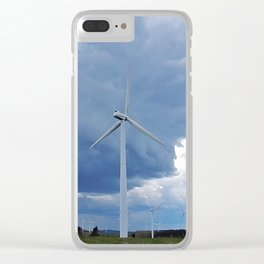 Windmill Park in Cap-Chat Clear iPhone Case