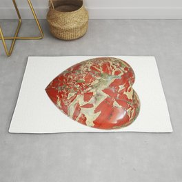 Big Red Jasper Heart - Side 1 Rug
