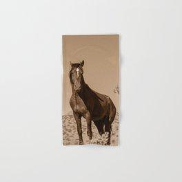 Wild_Horses Sepia 3501 - Nevada Hand & Bath Towel