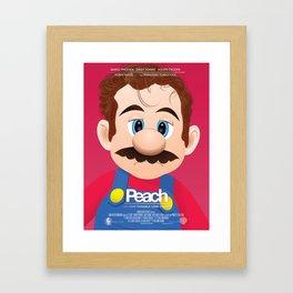 Peach - 'Her' parody movie poster Framed Art Print