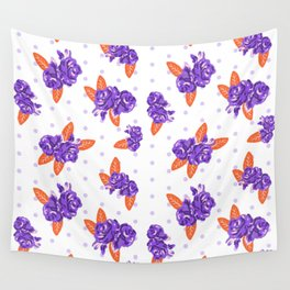 Floral clemson sports college football university varsity team alumni fan gifts Wall Tapestry