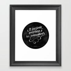 Porvenir Framed Art Print