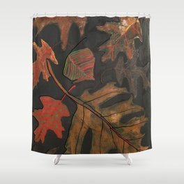"""Georgia Leaves"" Shower Curtain"