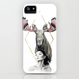 Haida Moose iPhone Case