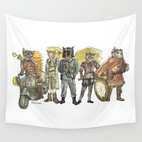 steampunk Wall Tapestries featuring Steampunk  by Felis Simha
