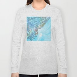 Colorful Abstract Butterfly Design Long Sleeve T-shirt