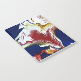 Fluid Bliss - Abstract, fluid painting Notebook