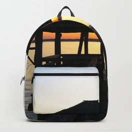 Norwalk, Sheffield Island, Sunset, Connecticut Backpack
