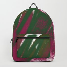 Ethnic particles green Backpack