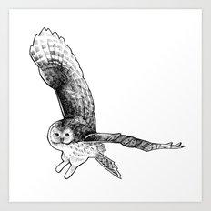 Ural Owl Art Print
