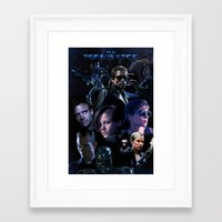 saga Framed Art Prints featuring Terminator Saga by Saint Genesis