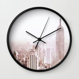 New York City Late Afternoon Wall Clock