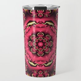 Fantasy flower kaleidoscope with optical effects Travel Mug