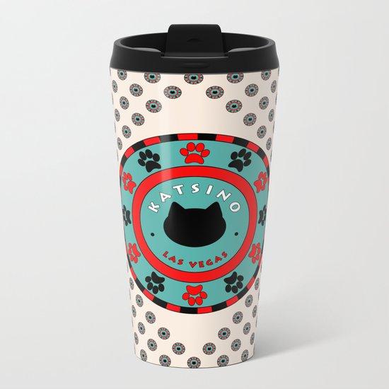Katsino Las Vegas (animals cats) Metal Travel Mug