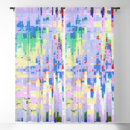 Square Tye Dye Pattern Blackout Curtain