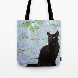 Luna Cat Gray Tote Bag