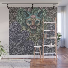 Bastet on the field Wall Mural