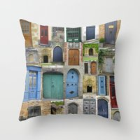 doors Throw Pillows featuring doors by Cathy Jacobs