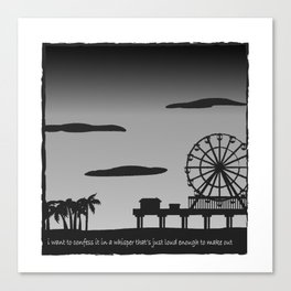 Santa Monica Confession Canvas Print