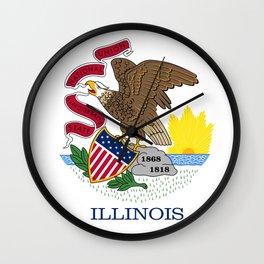 Flag of Illinois Wall Clock