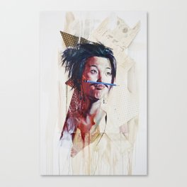 painting for Mustache Show, last Movember (untitled) Canvas Print