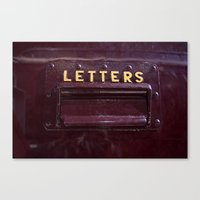 letters Canvas Prints featuring Letters by lenomadecom