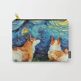 Starry Night Corgi Carry-All Pouch