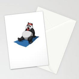 Panda Yoga T-Shirt Gift I Funny Fitness Tee Stationery Cards