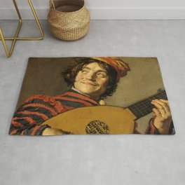 """Frans Hals """"The Lute Player"""" Rug"""