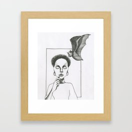 Here Comes The Bat Framed Art Print