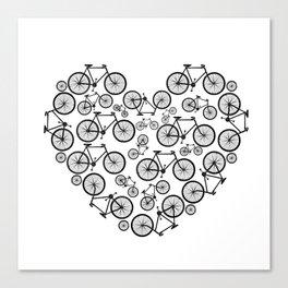 Black and White - Love Bikes Canvas Print