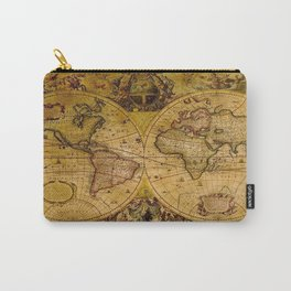 VintaGe Map Carry-All Pouch