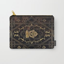 Leather and Gold Carry-All Pouch