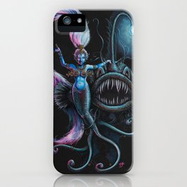 Goddess in the Deep iPhone Case