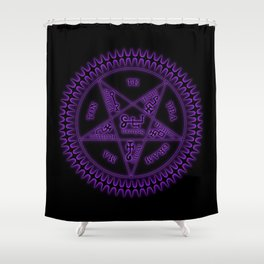 Sebastian Michaelis Sigil Dark (black bg) Shower Curtain