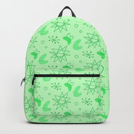 Neon Lime Green Midcentury Backpack