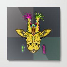 Punk Giraffe Metal Print