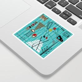Mid-Century Tiki Tok Sticker