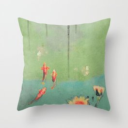 Koi Dreams Throw Pillow