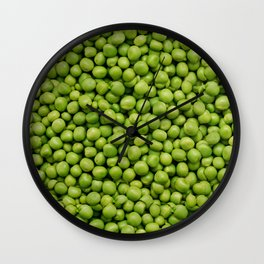 Green Peas Texture No1 Wall Clock