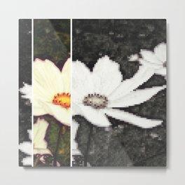 Pixelflower Metal Print