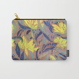 Painted Floral Pattern Carry-All Pouch