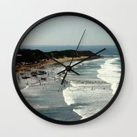 rowing Wall Clocks featuring Torquay Heads - Rowing Regatta - Australia by Chris' Landscape Images & Designs