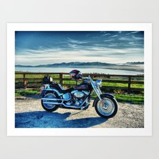 Harley Davidson, Middle Earth Edition. Art Print