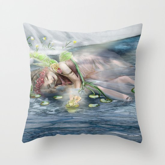 Awakening Spring Throw Pillow
