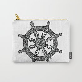 Zentangle - Dharma Wheel  Carry-All Pouch