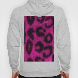 Spotted Leopard Print Pink Hoody